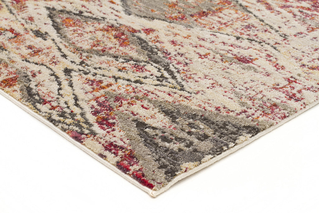 Fluid Sunset Modern Rust Rug