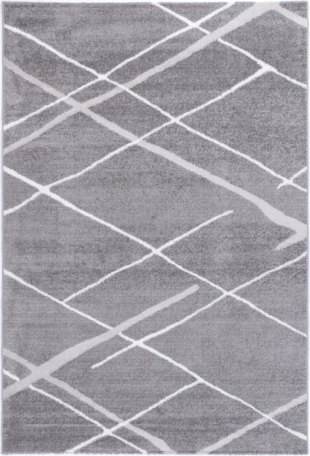 Paisley Abstract Stripe Grey Rug