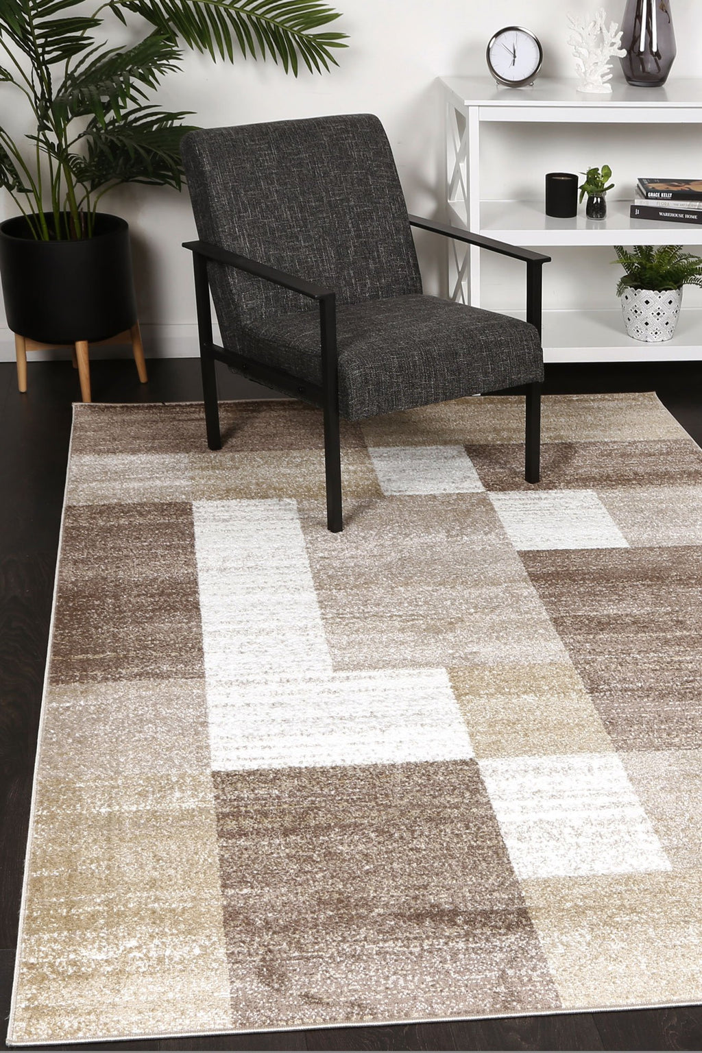 Paisley Abstract Geometric Beige Rug