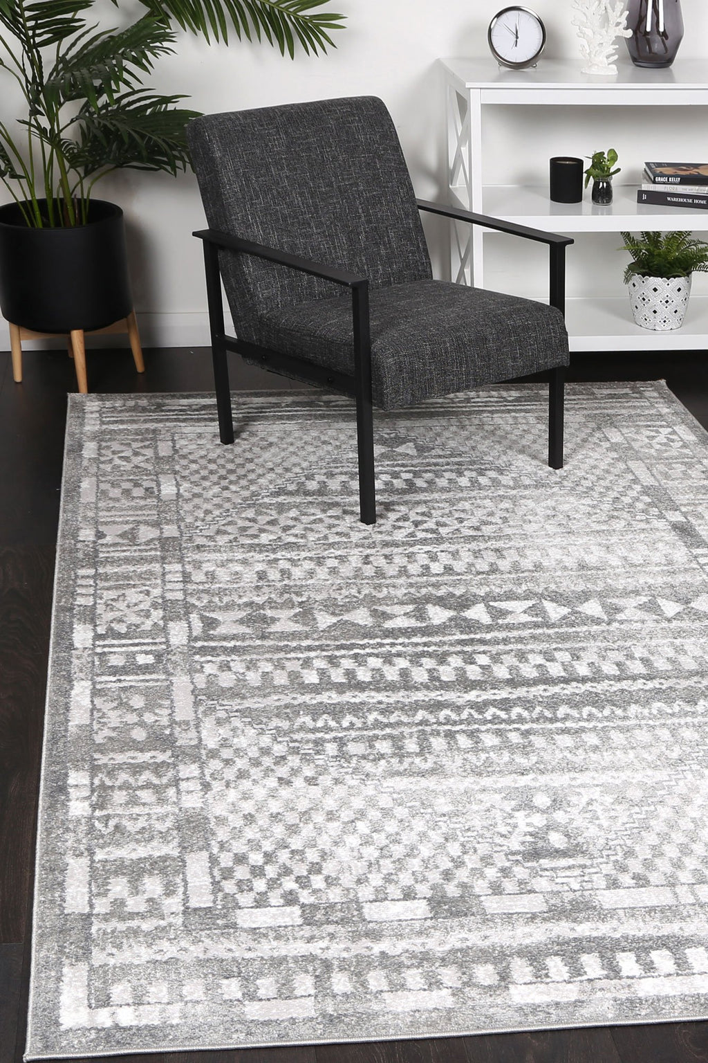Paisley Tribal Grey Rug