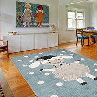 KidsZoo Sheep Blue Rug