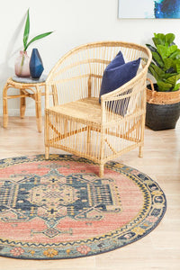 Bequest Twig Earth Round Rug