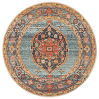 Bequest Memorial Rust Round Rug