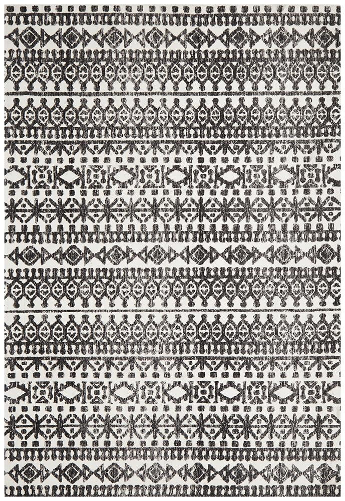 Denim Yasman Ivory Black Rug