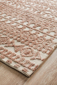 Denim Beta Peach Ivory Rug
