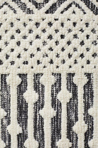 Denim Enema Ivory Black Rug