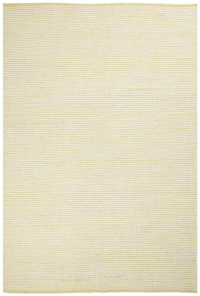 Ninnutsg Folt Wool Yellow Rug
