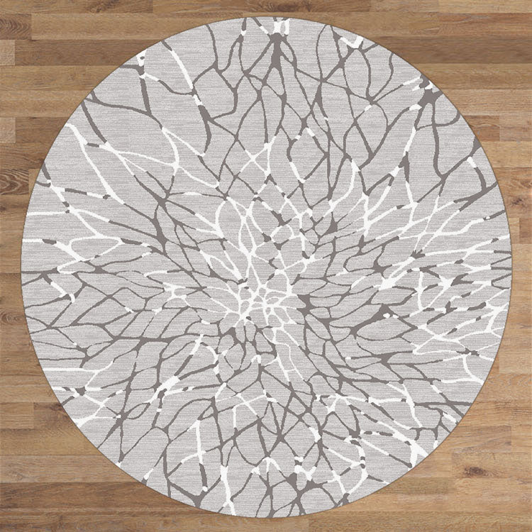 Lotos Bank Grey Round Rug