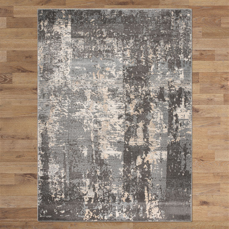 Lotos Rim Grey Runner Rug