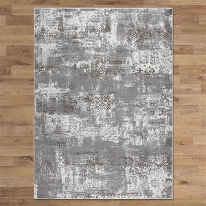 Lotos Bound Grey Runner Rug