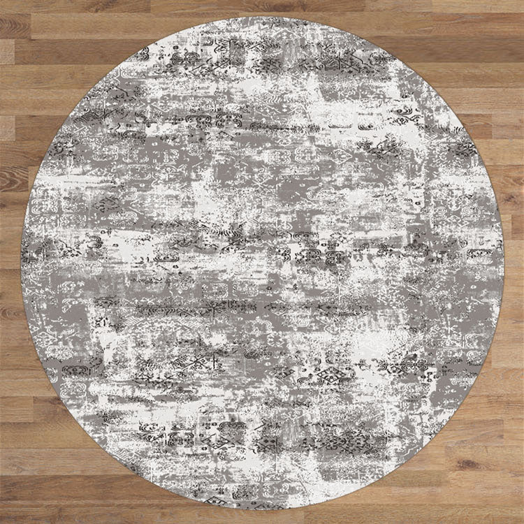 Lotos Bound Grey Round Rug