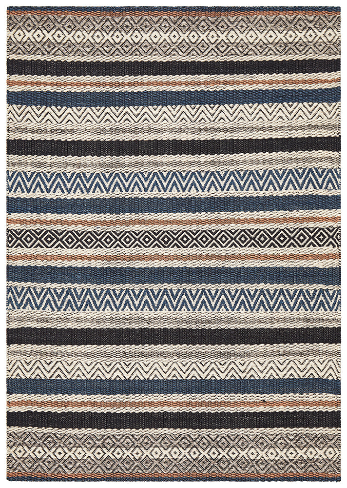 Rhythm Swing Denim Rug
