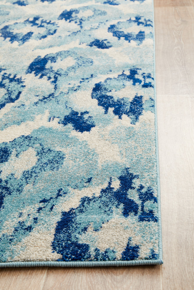 Lesley Whimsical Blue Runner Rug