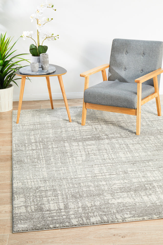 Ashley Abstract Modern Silver Grey Rug