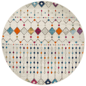 Peggy Tribal Morrocan Style Multi Round Rug