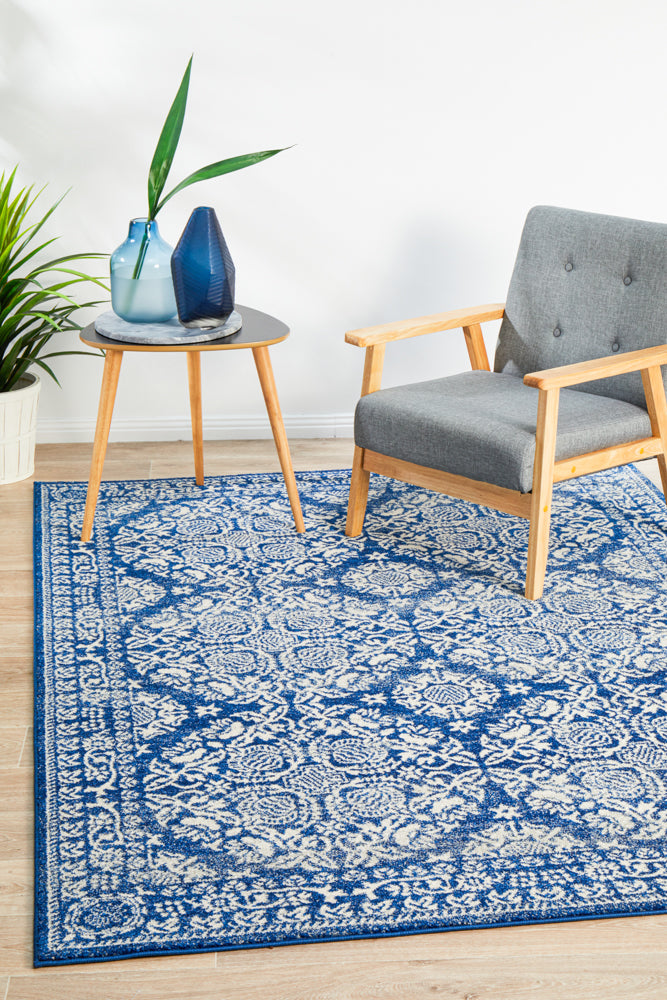 Gwyneth Stunning Transitional Navy Rug