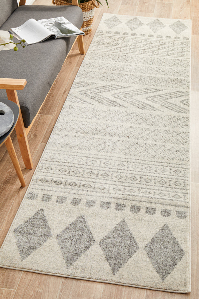 Adani  Modern Tribal Design Grey Runner Rug