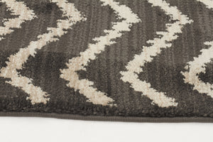 Moroccan Chevron Design Rug Grey