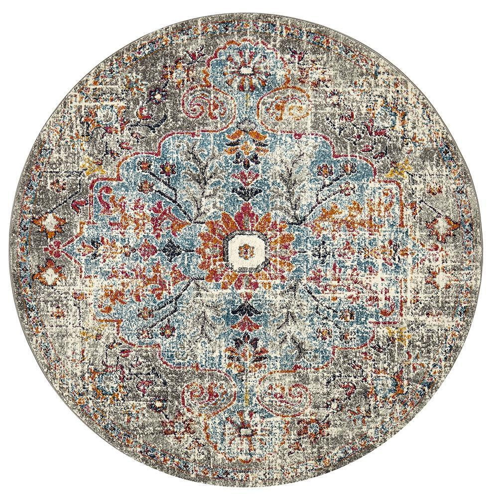 Cognitive Prado Multi Coloured Round Rug
