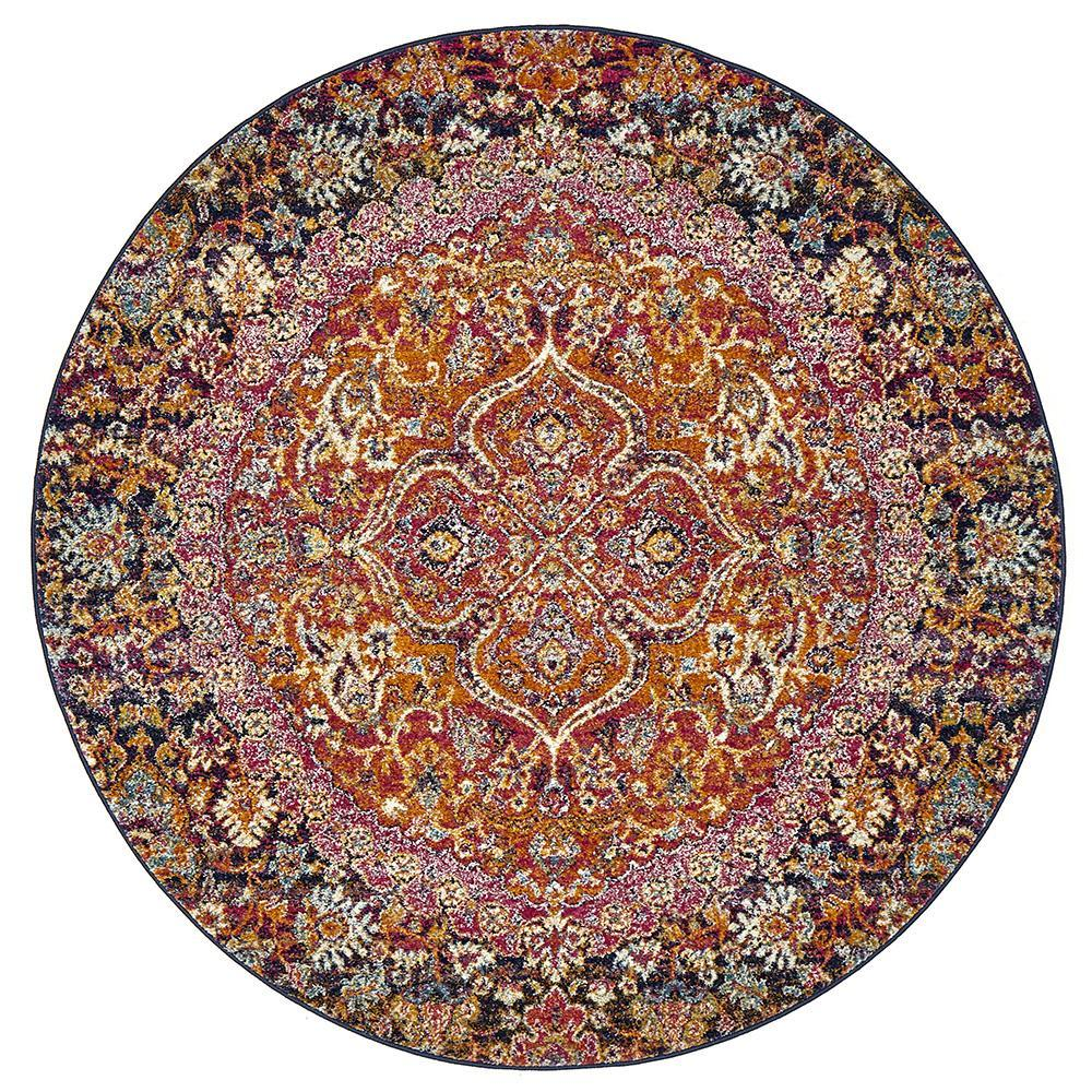 Vault Prado Multi Coloured Round Rug