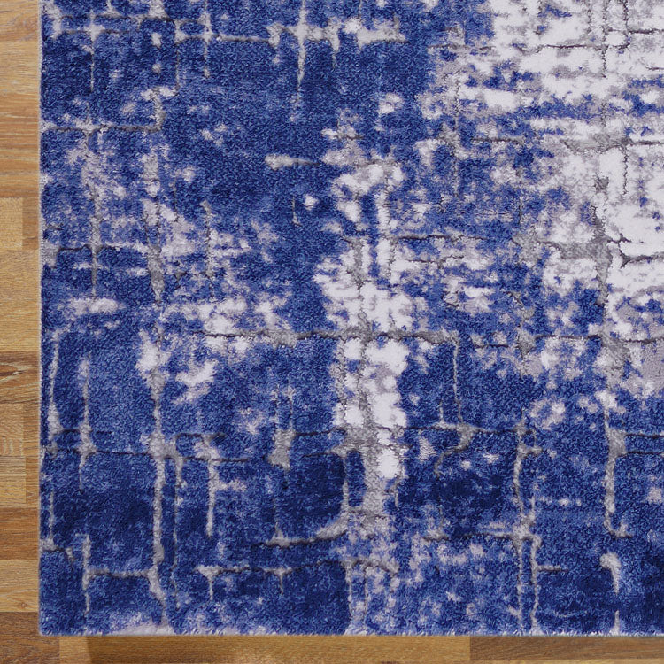 Unimaxim Theme Blue Runner Rug