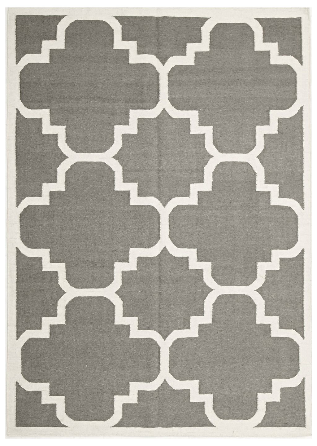 Flat Weave Large Moroccan Design Grey Rug