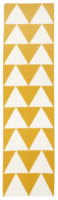 Pyramid Flat Weave Yellow Rug