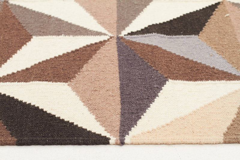 Dimensions Flat Weave Grey Runner Rug