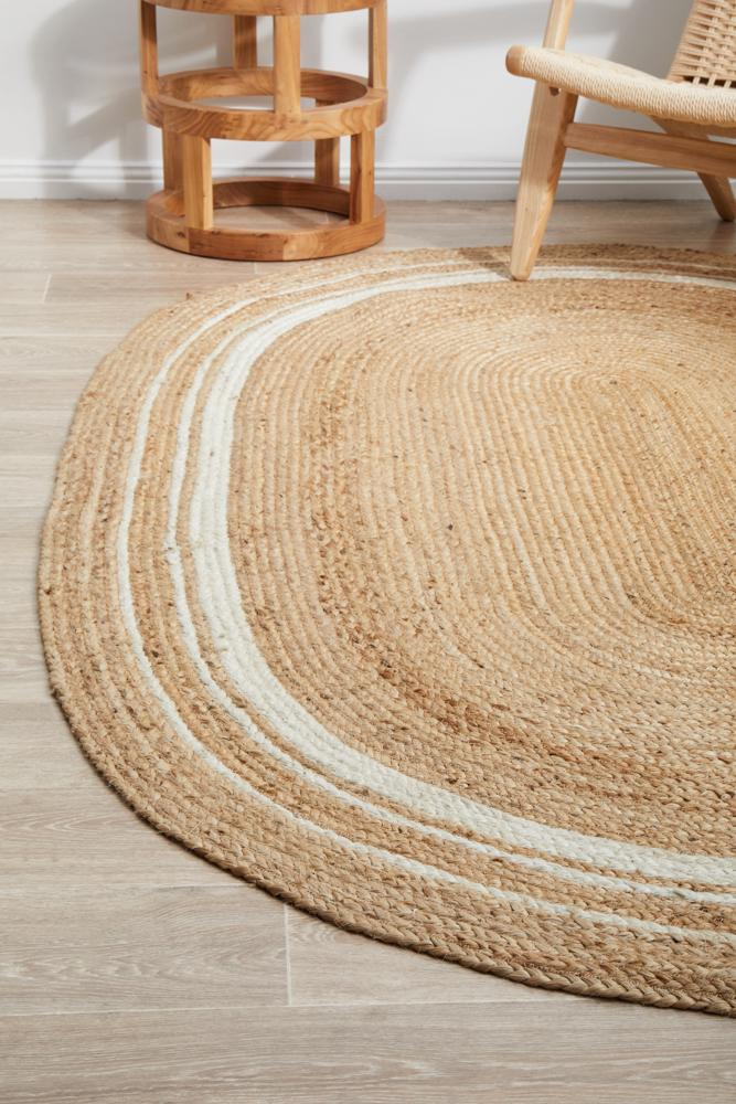 Nootka tribe Natural Oval Rug