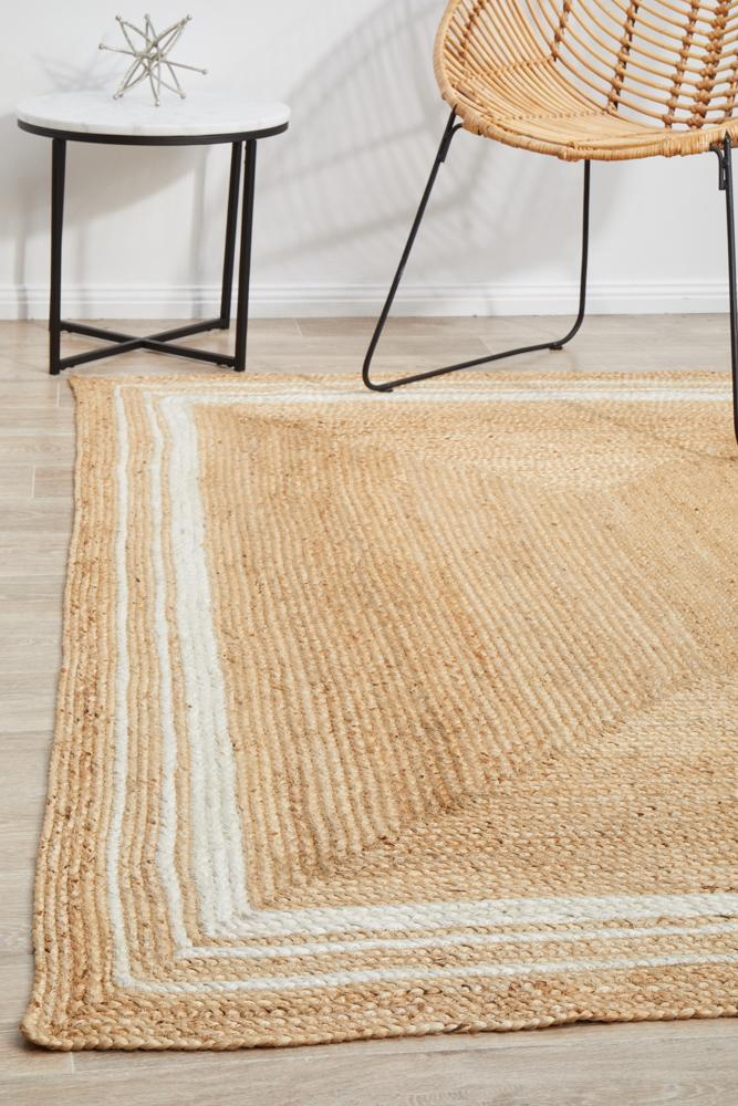 Nootka Tribe Natural Rug