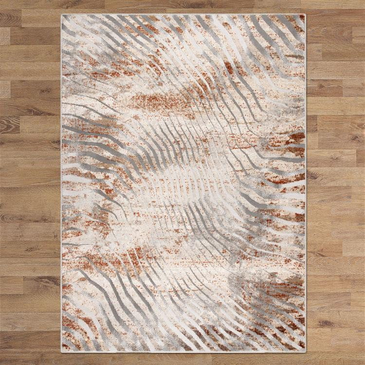 Aster Star Light Grey Runner Rug
