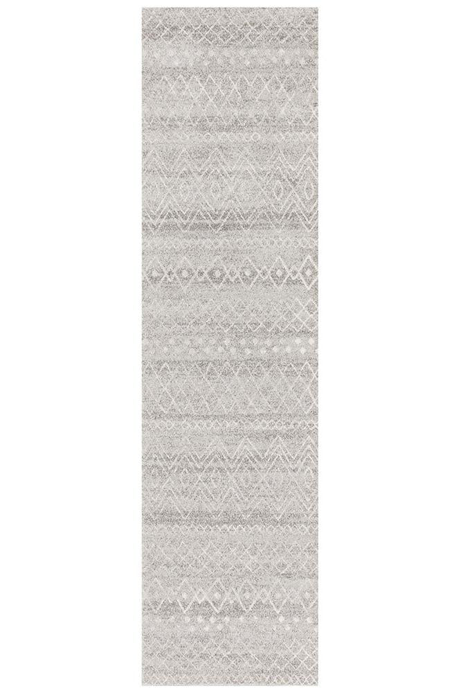Gynama Grey Rustic Tribal Rug