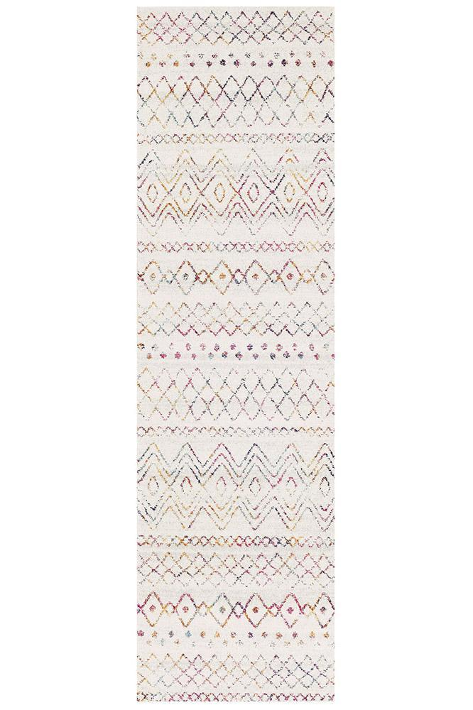Gynama Multi Rustic Tribal Runner Rug