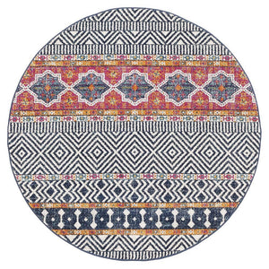Gynama Multi Tribal Round Rug