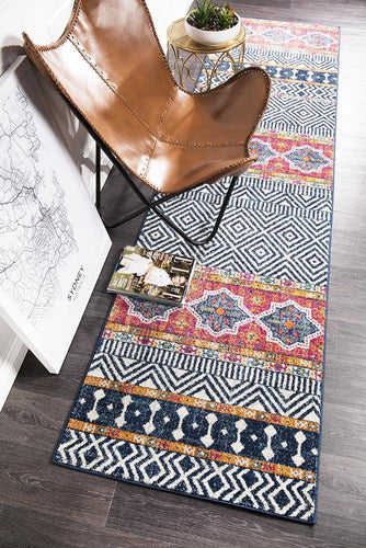 Gynama Multi Tribal Runner Rug