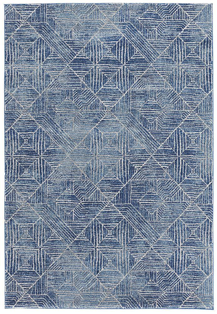 Gynama Contemporary Navy Rug