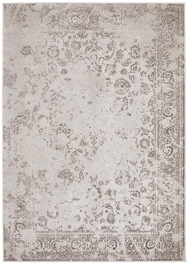 Luxuriance Lucy Silver Rug