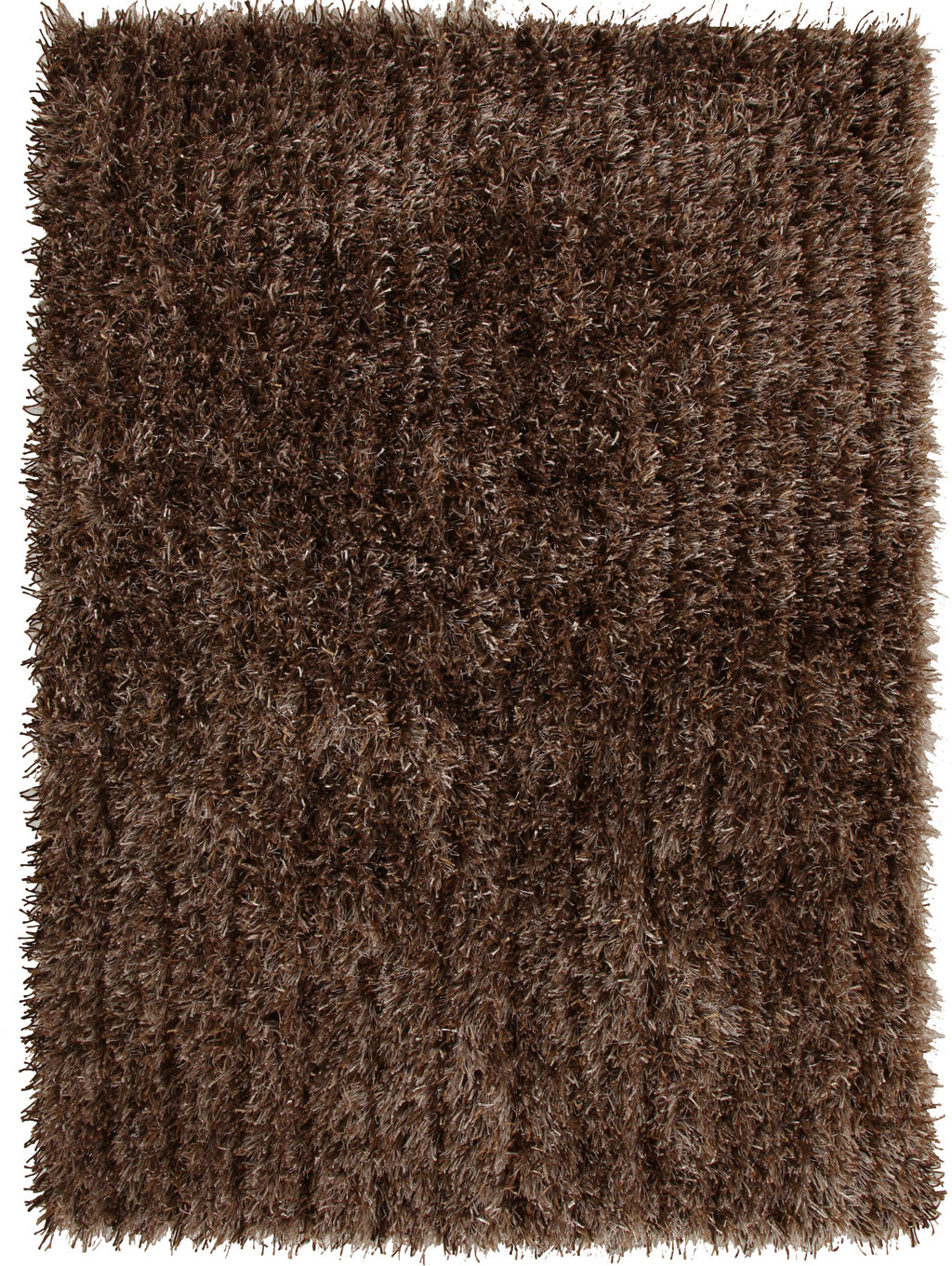 Metallic Thick, Thin Shag Rug Beige