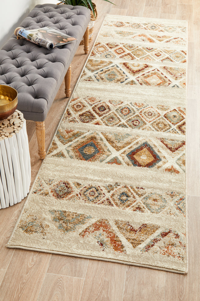 Mayfair Contrast Rust Runner Rug
