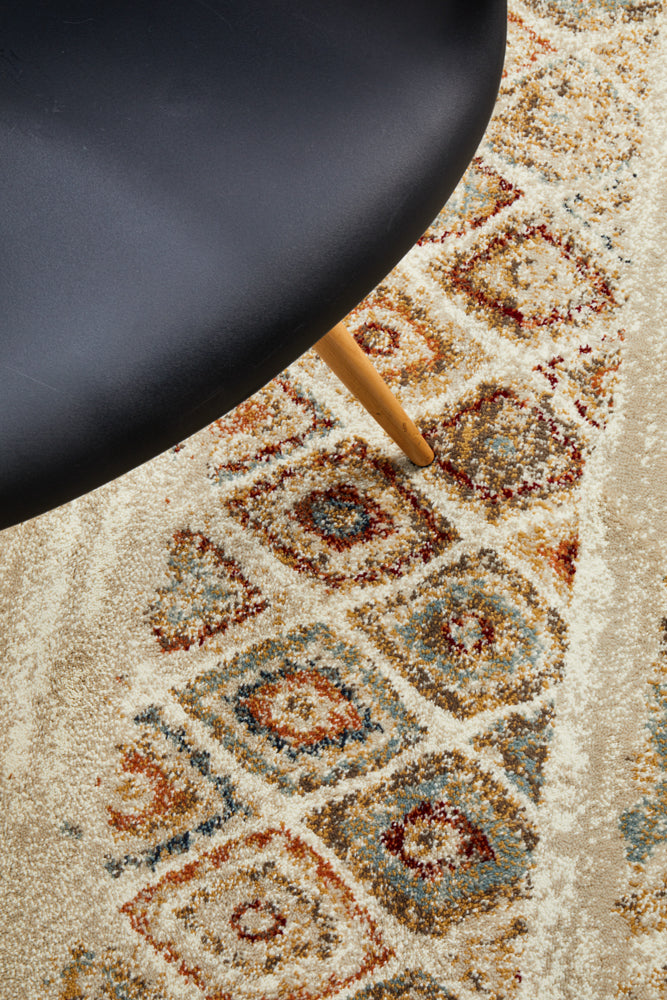 Mayfair Contrast Rust Rug