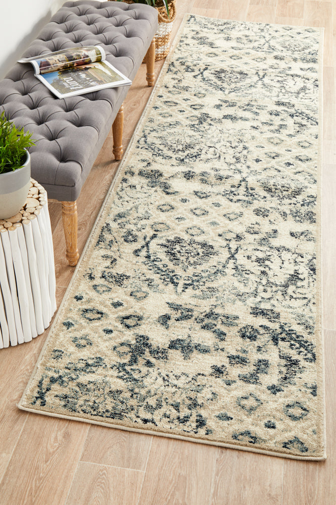 Mayfair Illusion Blue Runner Rug