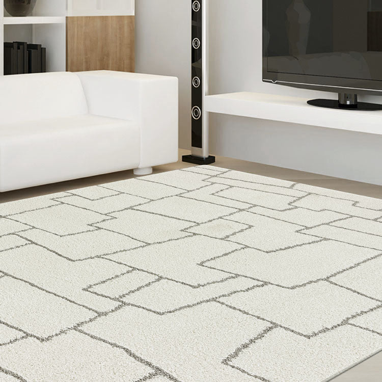 Land Plateau Cream Rug