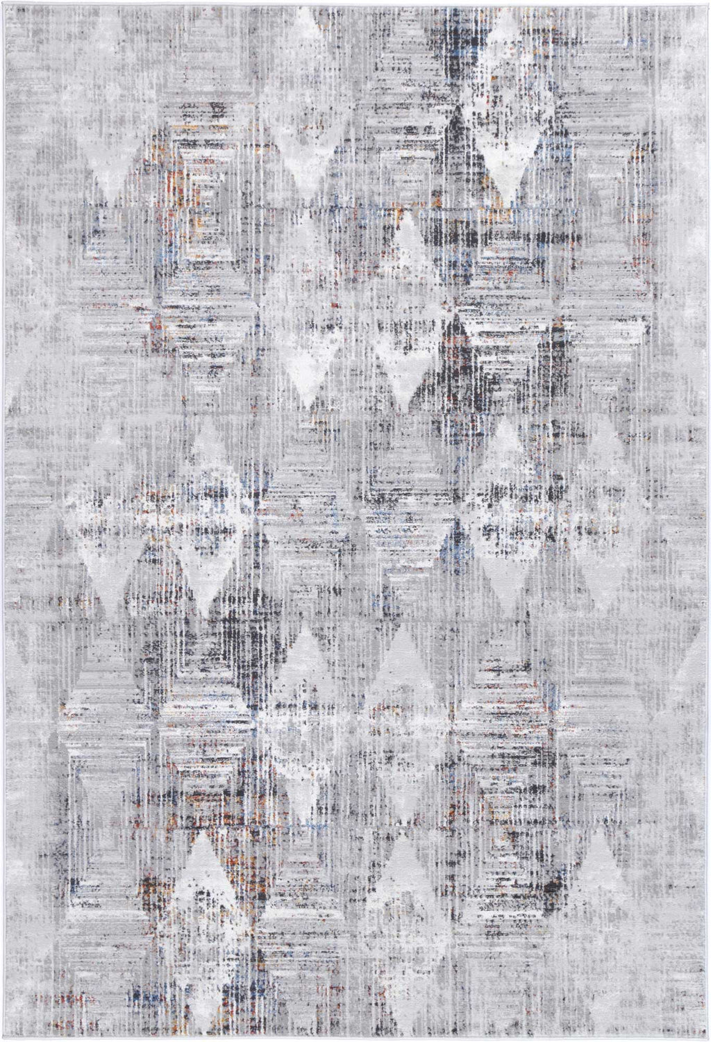 Isaiah Grey Multi Diamond Transitional Rug