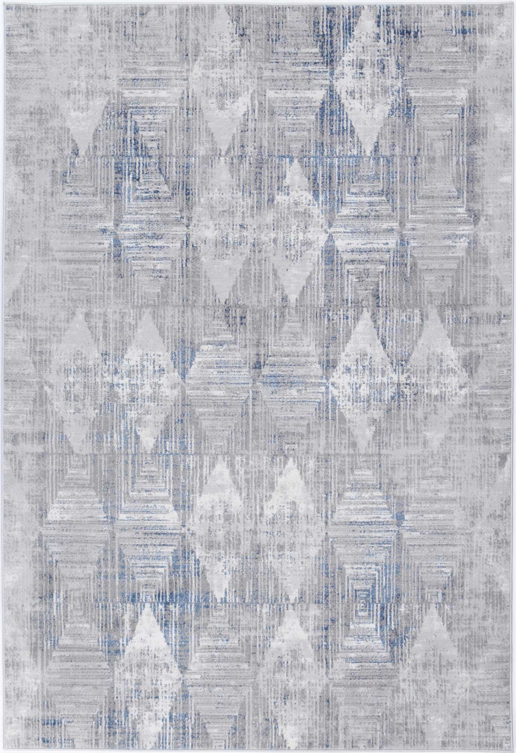 Isaiah Grey Blue Diamond Rug