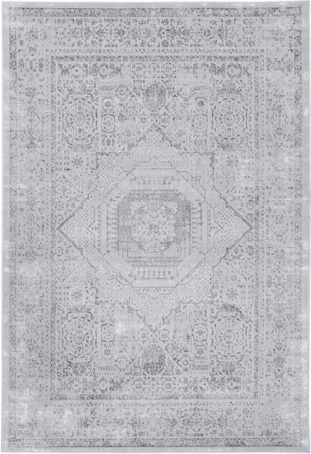Isaiah Grey Traditional Rug