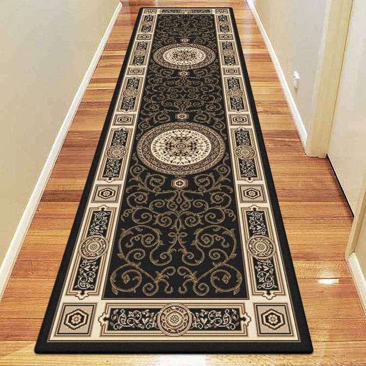 Palace Fancy Black Runner Rug
