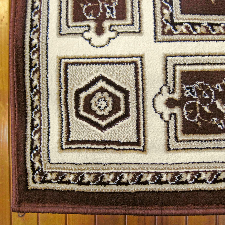 Palace Fancy Brown Runner Rug