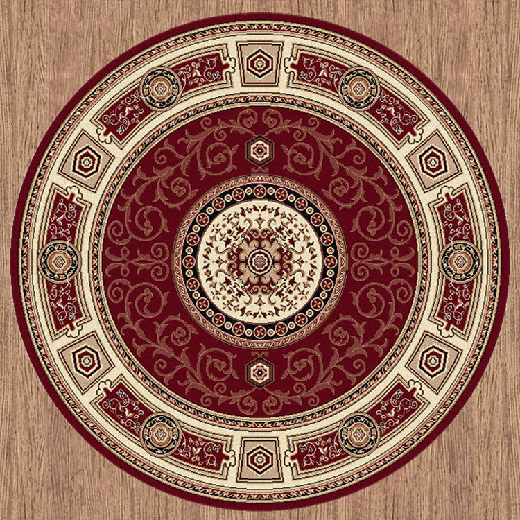 Palace Fancy Red Round Rug