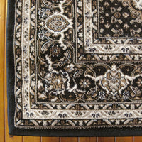 Palace Persian Fish Black Runner Rug