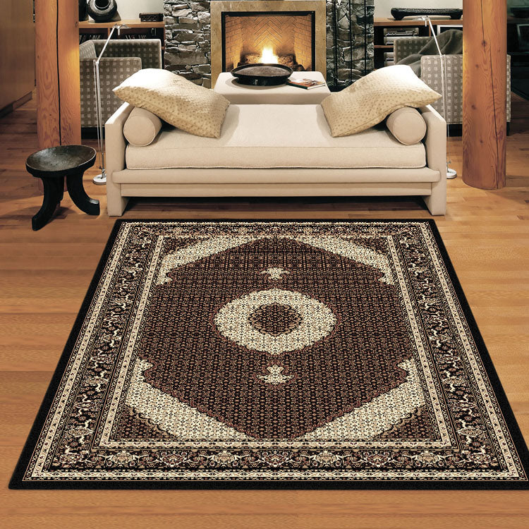 Palace Persian Fish Black Rug